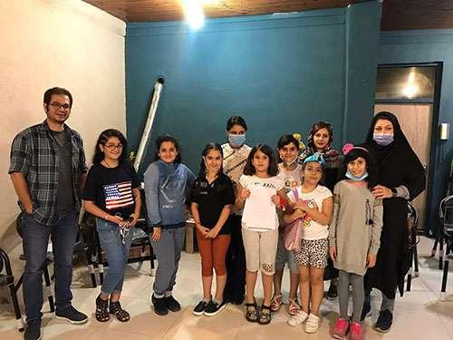 بازدید دبیرخانه شهر دوستدارکودک شهرداری رشت از موسسه فرهنگی و هنری هامون گیلار