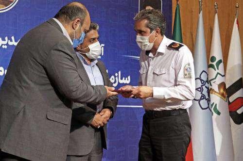 برگزاری مراسم تکریم و معارفه مدیرعامل سازمان آتش نشانی و خدمات ایمنی  ...