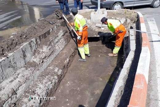 لایروبی و پاکسازی آبروهای شهرک یاغچیان