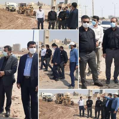 بازدید نماینده مردم خرمشهر در مجلس به همراه سرپرست شهرداری خرمشهر از پروژه های عمرانی شهرداری