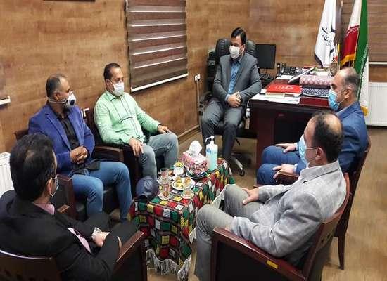 جلسه ی مشترک رئیس سازمان فرهنگی، اجتماعی و ورزشی شهرداری رشت و مسئولین هیأت بوکس استان