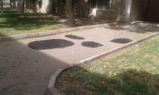 اجرای عملیات لکهگیری در معابر بین بلوکهای شهرک امام خمینی(ره)