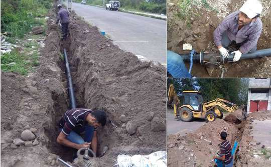 با اجرای 250متر توسعه شبکه توزیع 15 خانوار رودسری از نعمت آب آشامیدنی بهره مند شدند