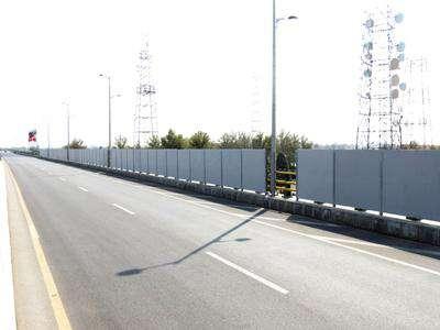 اتمام پروژه ساخت و نصب دیواره پوششی بر روی تقاطع غیر همسطح امام رضا (ع)