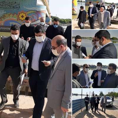 بازدید رئیس امور پایش ، ارزیابی و سرپرست اطلاعات سازمان برنامه و بودجه کشور از پروژه های عمرانی شهرداری خرمشهر