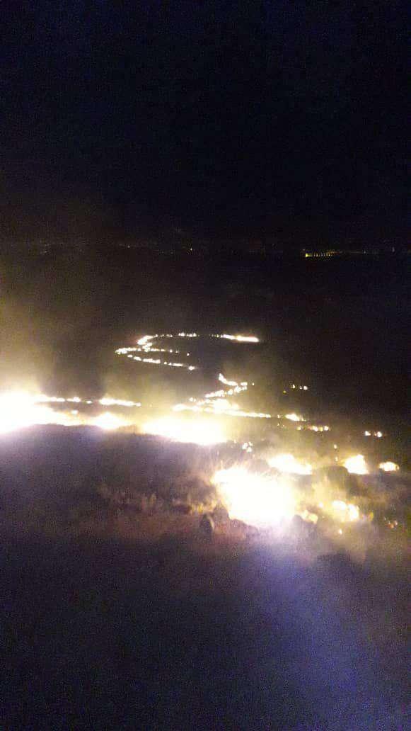 اطفاء حریق منطقه حفاظت شده باشگل تاکستان