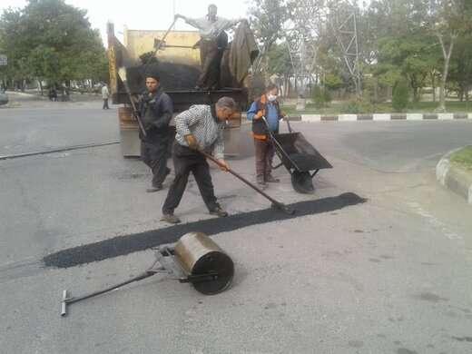 اجرای عملیات بهسازی معابر در شهرک شهید بهشتی