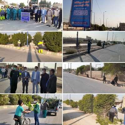 چهارمین هفته از نظافت و پاکسازی محله به محله در کوی بهروز توسط شهرداری خرمشهر برگزار شد