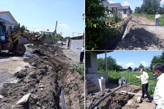 اجرای 8 هزار و 500 متر لوله گذاری به منظور توسعه شبکه آبرسانی شهرستان سیاهکل