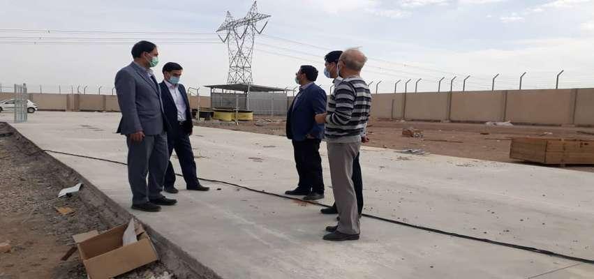 بازدید مدیرعامل برق منطقهای یزد از پروژه احداث پست ۶۳ کیلوولت یزدمهر/ کاهش تلفات شبکه شهرستان مهریز با احداث پست ۶۳ کیلوولت یزدمهر