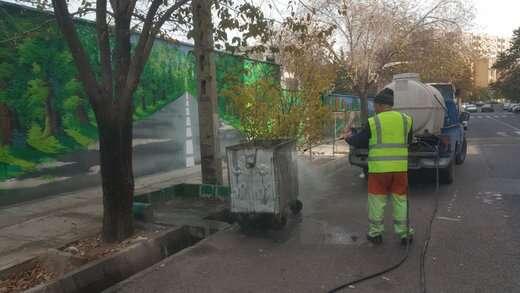 شستشوی باکسها و زیرباکسهای زباله سطح منطقه ۳ تبریز