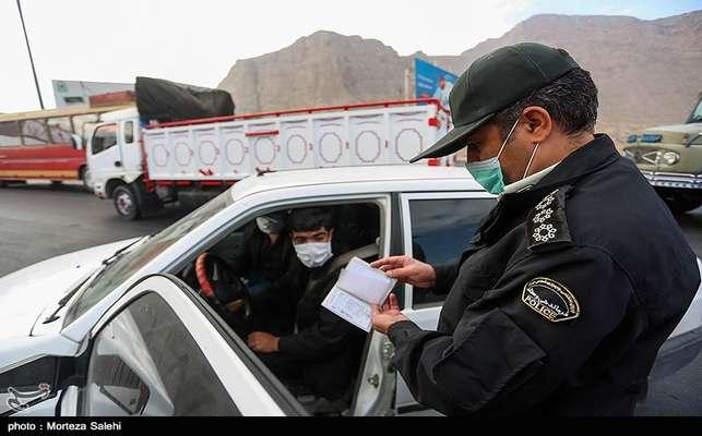 اجرای محدودیتهای تردد در پلیس راه اصفهان-شیراز به منظور جلوگیری از شیوع ویروس کرونا با همکاری شهرداری مبارکه