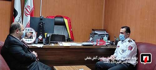 بازدید رضا رسولی، عضو شورای اسلامی شهر رشت از سازمان آتش نشانی و دیدار با آتش نشانان/ گزارش تصویری