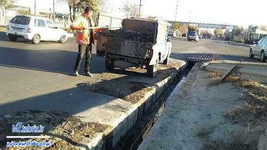 کانال مسیرهای جاده اذرشهربه سمت دیزل آباد و اتوبان کسایی لایروبی شدند