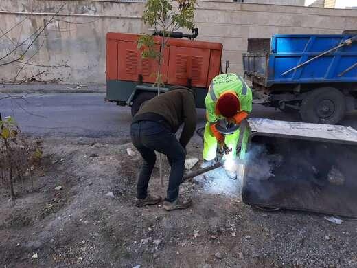 مرمت و بازسازی باکسهای زباله سطح حوزه شهرداری منطقه ۲ تبریز