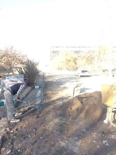 جدول گذاری پروژه پارک باغشمال بعد از اجرای بتن مِگر شروع شد