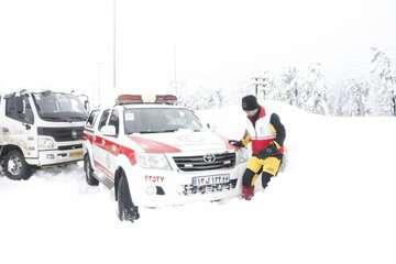 ۱۰۴۴ نفر گرفتار در برف و کولاک امدادرسانی شدند