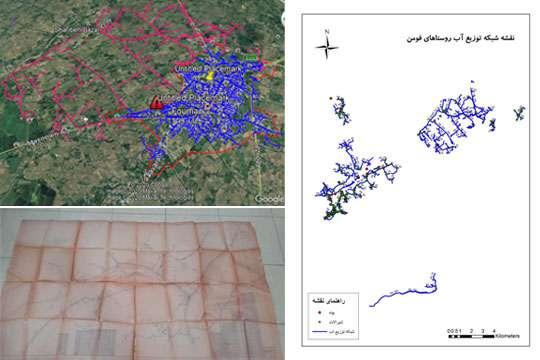ثبت اطلاعات مکانی تاسیسات آبرسانی روستایی شهرستان فومن در سامانه GIS