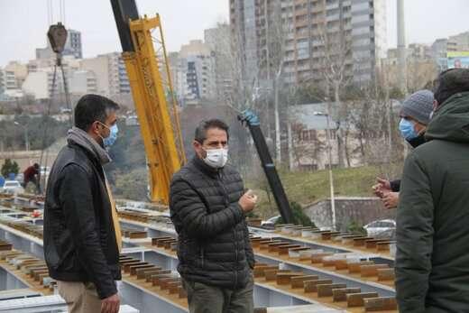 عرشهگذاری پل همسان کابلی به پایان رسید