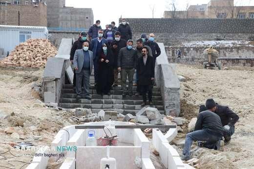بازدید شهردار و اعضای کمیسیون شورای اسلامی تبریز از پروژه های در حال احداث شهرداری منطقه 3