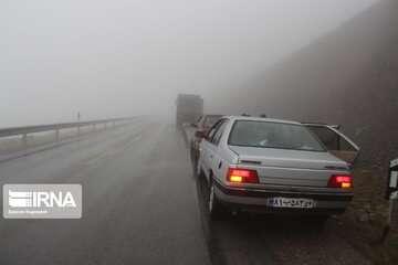 بارش برف و باران در جادههای ۹ استان