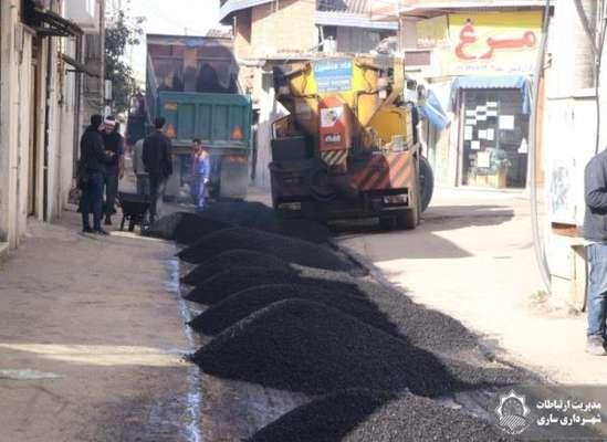 آسفالت و بهسازی کوچه شهید تقوی در بلوار کشاورزاجرا شد