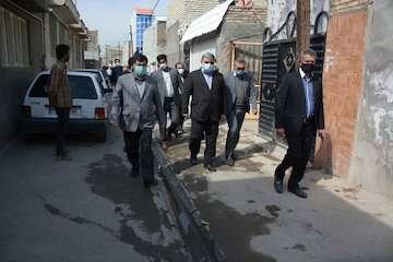بازدید معاونین وزیر راه و شهرسازی از حاشیه شهر مشهد
