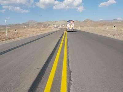 اجرای 2کیلومتر خط کشی طولی در محدوده تعریض شده جاده اسماعیل آباد