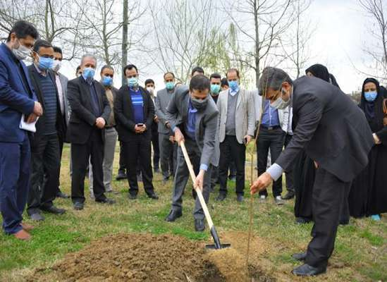 کاشت نهال به یاد 64 جانباز و شهیده استان مازندران در بوستان ملل ساری