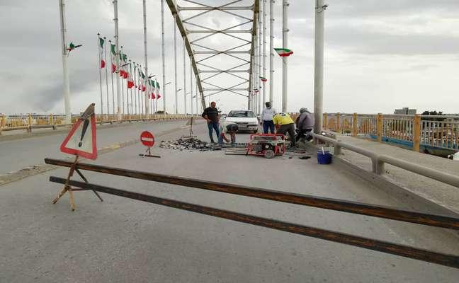 عملیات اجرایی تعمیر پل شهید جهان آرا توسط شهرداری خرمشهر آغاز شد