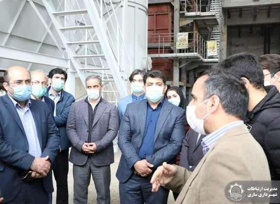 معاون دفتر امور زیر بنایی سازمان برنامهوبودجه کشور از نیروگاه زبالهسوز ساری بازدید کرد