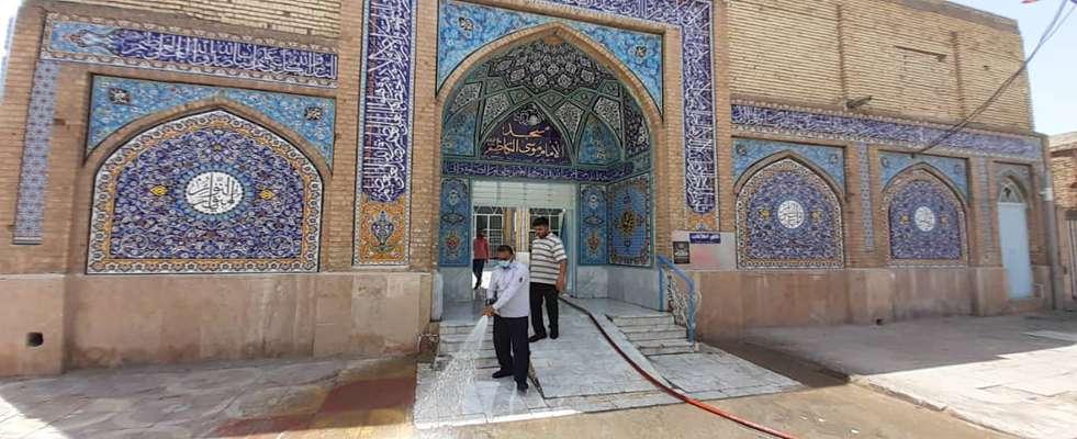 شهردارى خرمشهر با اجراى طرح غبار روبى و شست و شوى مساجد به استقبال از ماه مبارك رفت