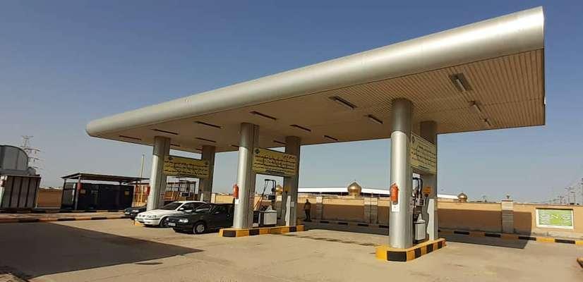 جایگاه سوخت سی ان جی در بلوار شهدای گمنام توسط شهرداری خرمشهر راه اندازی شد