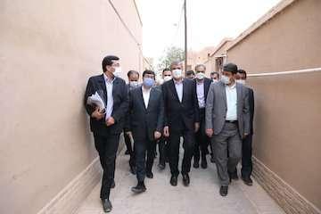 افتتاح طرح بازآفرینی محله مهرپادین شهر مهریز در استان یزد