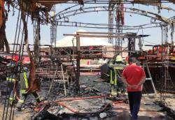 آتش سوزی در سیرک بزرگ شیراز