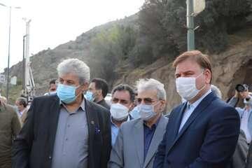 رییس سازمان برنامه و بودجه از پروژه آزادراه رشت-قزوین بازدید کرد