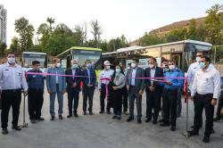 در آیین رونمایی از ۵۰ دستگاه اتوبوس جدید درون شهری