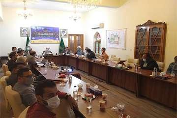 نشست بررسی وضع طرح توسعه حرم حضرت احمد بن موسی(ع) برگزار شد