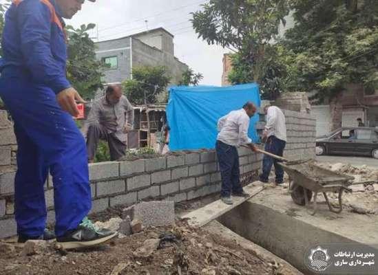 پروژه هدایت آب های سطحی و بهسازی معابر در حال انجام است