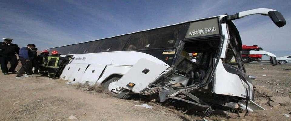 تکرار حادثه واژگونی اتوبوس فاقد صورت وضعیت