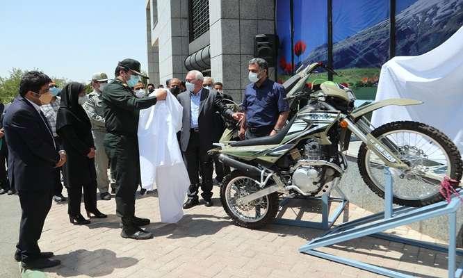 آیین رونمایی از 1200 دستگاه موتور سیکلت با هدف تجهیز پاسگاه های محیط بانی برگزار شد