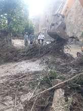 خسارت سیل به تاسیسات آبرسانی روستای گلابر