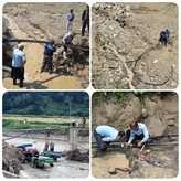 تخریب بیش از 9 کیلومتر خطوط انتقال آبرسانی در شهرهای سیلزده مازندران/ اتصال موقت شبکه آب آشامیدنی مناطق سیلزده