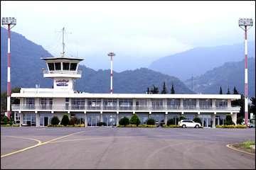 نخستین پرواز مستقیم کیش–رامسر در فرودگاه شهدای رامسر به زمین نشست