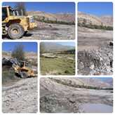 رفعتصرف بخشی از بستر رودخانه تاش در شهرستان شاهرود