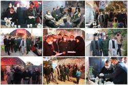 حضور مهندس اصنافی شهردار شیراز در ستاد اربعین حسینی شهرک سعدی موکب شهدای مدافع حرم