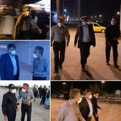 بازدید سرپرست شهرداری خرمشهر به همراه مدیر کل امور شهری استانداری از شلمچه