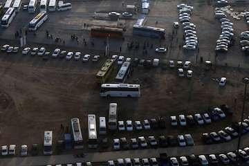 آمادگی کامل سازمان راهداری و حمل و نقل جادهای برای بازگشت زائران سفرهای اربعین از مرز مهران/استقرار ۲۵۰۰ دستگاه وسیله اتوبوس در پایانه شهیدسلیمانی
