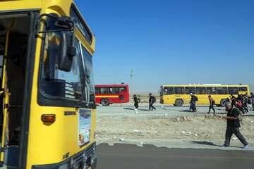 ناوگان حمل و نقل عمومی آماده جابجایی زائران اربعین است