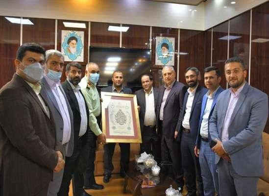 شهردار و اعضای شورای اسلامی شهر ساری با فرماندهان انتظامی مازندران و مرکز استان دیدار کردند